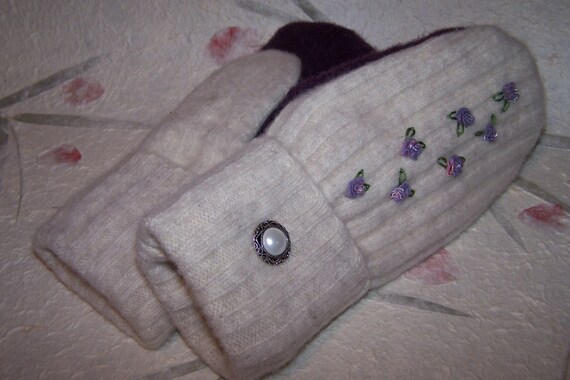 Recycled Wool Sweater Mittens
