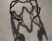 Recycled copper DNA weave  bracelet