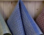 Cabin Series - Pine design Hand Towels in periwinkle