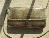 Golden Metal Mesh purse