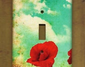 "Oversized 3.5"" x 5.25"" Poppy & Blue Skies Switchplate cover"