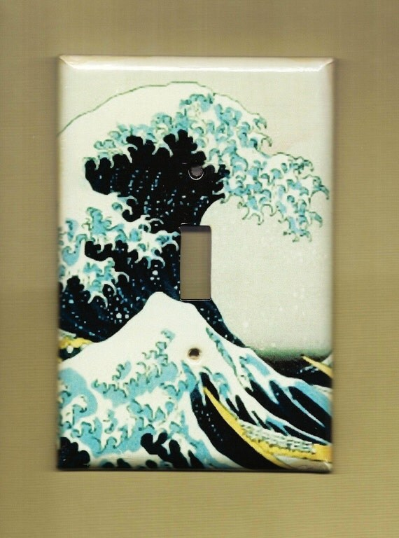 Hokusai Wave Switch Plate cover