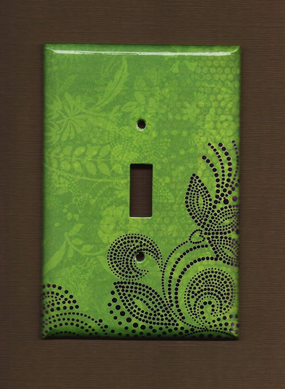 Limited Edition Embossed Green Zen Switchplate cover