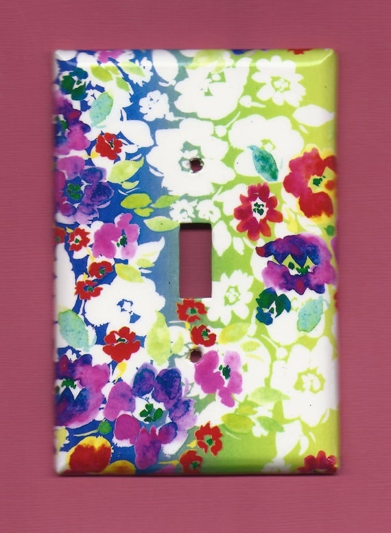 Watercolor Floral Switchplate cover