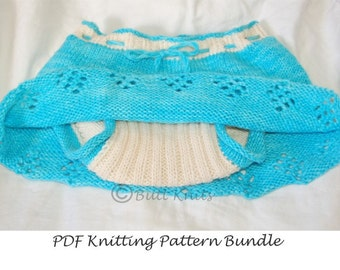 PDF Knitting Pattern - Skirt PLUS Soaker Pattern Bundle