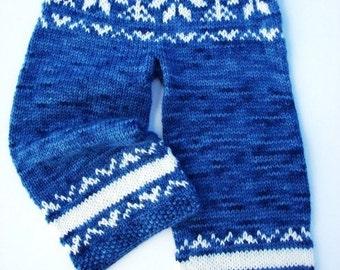 PDF Knitting Pattern - Butt Knits Winter Snow Longies Pattern