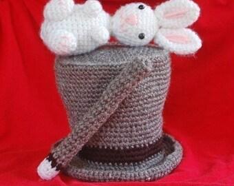 PDF Pattern - Amigurumi Magic Hat With Rabbit And Wand