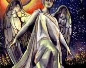 EBSQ Angel of Death COA included original 5 x 7 small format art SFA