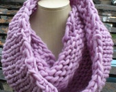 Custom Cashmere Lavender Knit Cowl for Cho
