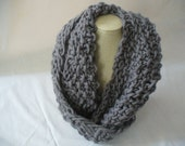 Gray Wool Cashmere Chunky Cowl