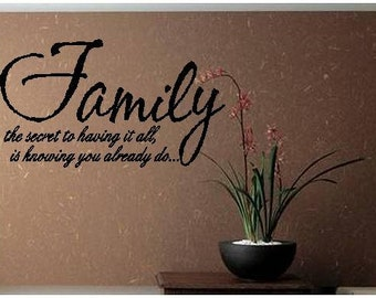 Quote-Family the Secret to Having It All-special buy any 2 quotes and get a 3rd quote free of equal or lesser value