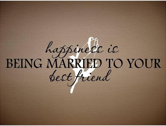 Items Similar To Quote-Happiness Is Being Married To Your