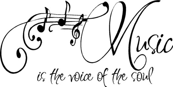 Music Quotes For Tattoo: Items Similar To QUOTE-Music Is The Voice Of The Soul