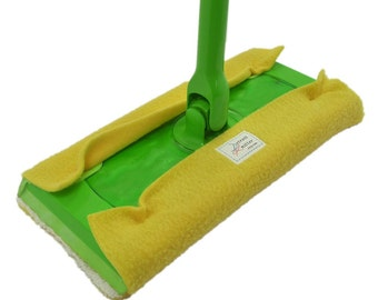 3 FLEECE & TERRY Double Sided Reusable Swiffer Pads, Daffodil Yellow or mix, EcoGreen Pads, washable Swiffer Sweeper pads, mop and dust pads
