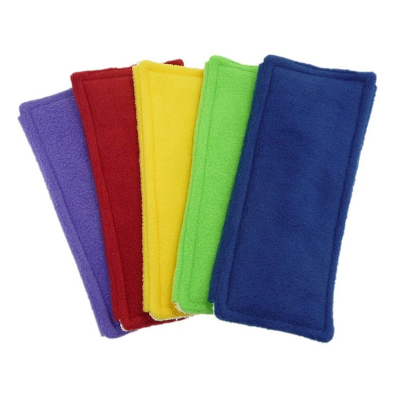 """1 FLEECE & TERRY Double Sided Reusable Swiffer Pads, Choose yoru color, EcoGreen Pads, washable Swiffer Sweeper pads, mop and dust, fits 10"""""""