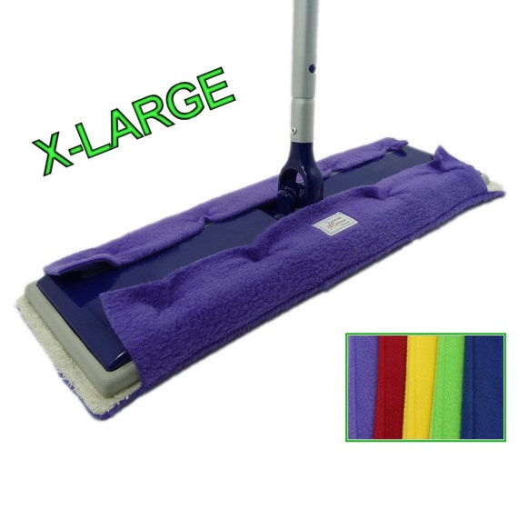"1 EXTRA LARGE Pad fits 17"" Swiffer, Big XL, Max, Professional, & Heavy Duty size pads, Double Sided Fleece Terry Cloth, BiG Swiffer Mops"