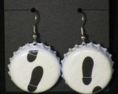 Recycled Bottlecap Earrings (Step Right Up)