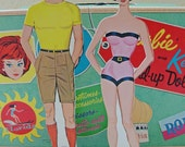 CHRISTMAS CLOSEOUT 50% off 1962 Barbie and Ken Stand-up Paper Dolls in box