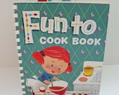 BLACK FRIDAY 20% off Vintage Fun to Cook Book for Kids by Carnation 1955