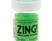 Zing Embossing Powder - Fluorescent Neon Green