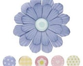 Jumbo Blossoms with Pebble Brads - Periwinkle - by Making Memories