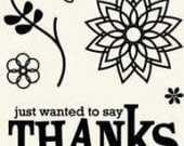 Clear Acrylic Stamps - Thanks - by Basic Grey
