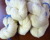 Undyed Sport Wool Yarn- Shirley- Natural White