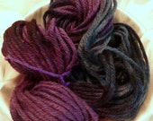 CLEARANCE- Hand Paint Bulky Wool 4ply Yarn- Chubby Bunny- in English Garden