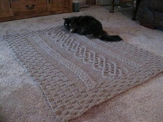 Cabled Wedding Blanket Knitting Pattern PDF by knitolution on Etsy