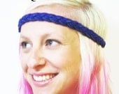 Robot Dinosaur- Purple Braided Headband