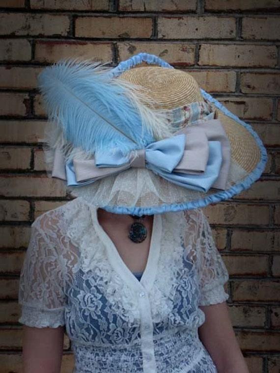 Elizabeth Wilmot, Countess of Rochester , custom designed, natural, Milan straw, wide brim, ladies hat