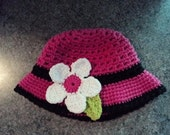 Pattern for Child's Sunhat with Flower applique