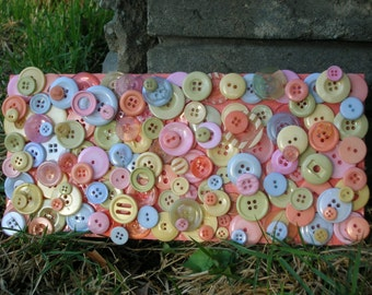 Pastellie Wall or Door Button Art