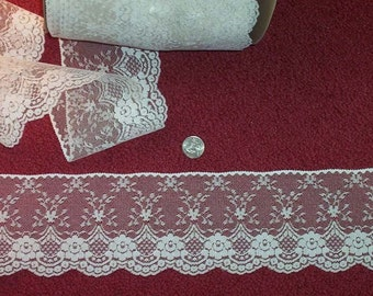 4 inch polyester flat  Victorian lace - cream - 75 cents a yard