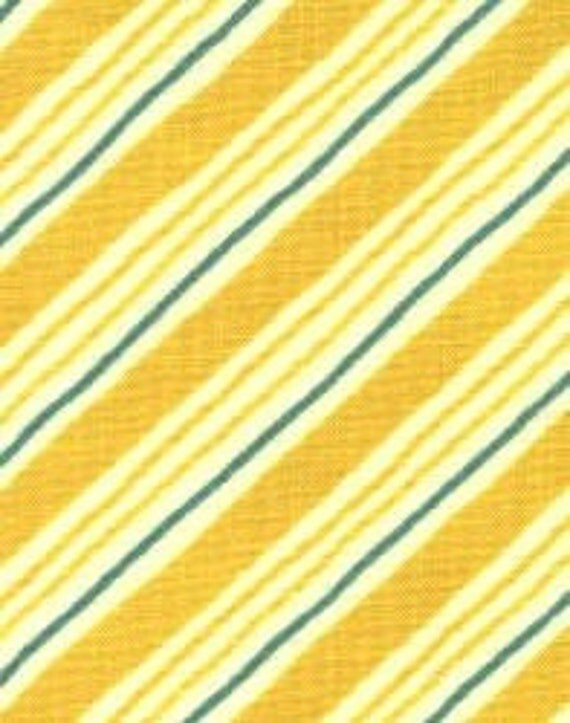 Holly Jolly by Sandy Gervais for Moda Yellow Stripe Fabric One Yard