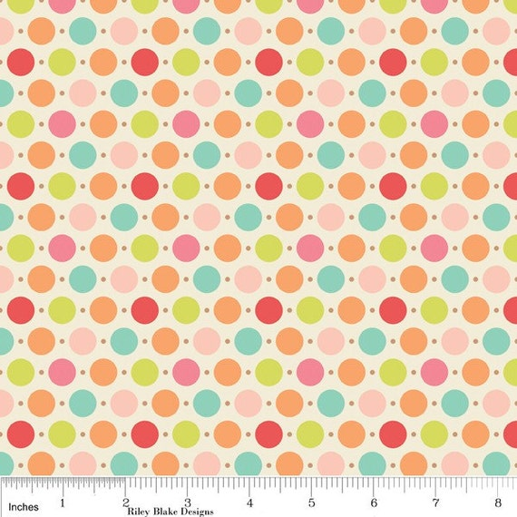 Riley Blake Sweet Nothings Multi Dots Fabric