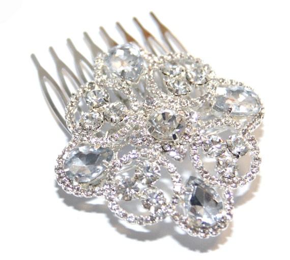 BRIDAL - Wedding Hair Comb, Bridal Accessories, Rhinestones, Crystal, Swarovski, Czech crystal, Head Piece