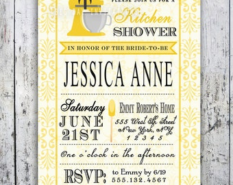 Kitchen Bridal Shower Invitation - Printable file