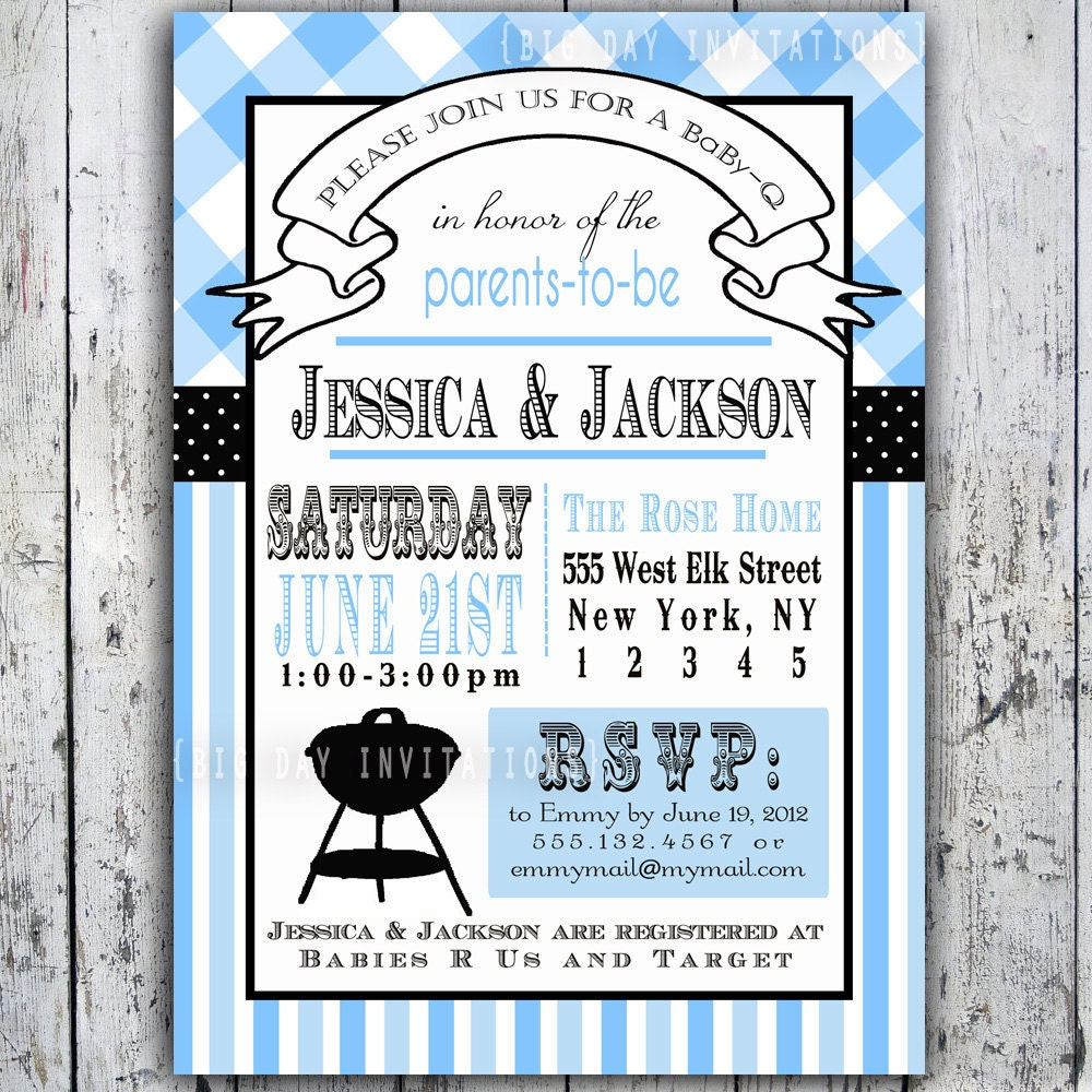 items similar to baby shower invitation baby q baby bbq digital