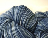 Guilty Pleasures Sock Yarn in BOYFRIEND BLUE JEANS Bittersweet Woolery