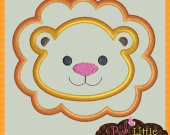 Baby Lion Applique Design