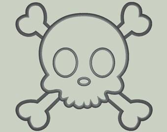 Sweet Boy Skull applique Design