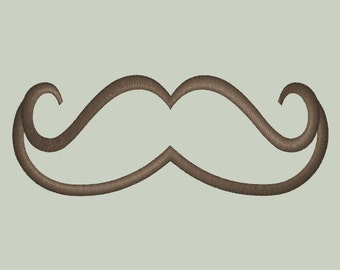 Mustache Applique Design