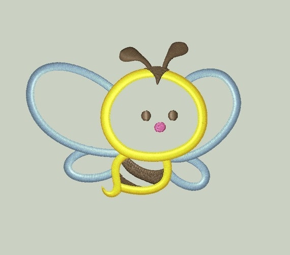 Bumble Bee Machine Embroidery Applique Design