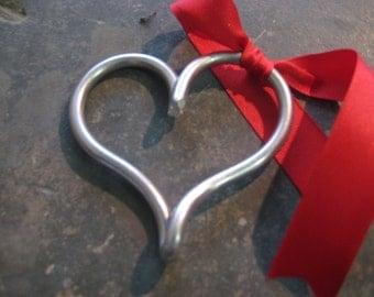 metal heart/xmas ornament/perfect stocking stuffer