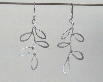 Leaf earring- Sterling Silver
