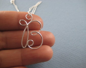 Pixie initial necklace