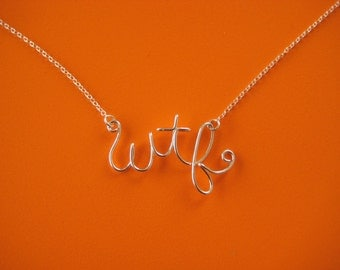 Wtf initial necklace