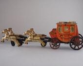 Western Stage Coach Tin Toy