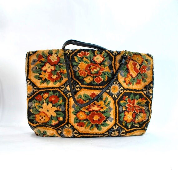 HOARDER's DELIGHT --To Be Light-- Sale .Carpet Bag Tapestry bag  .sturdy Chenille type fabric .Endearing and Amazing tote
